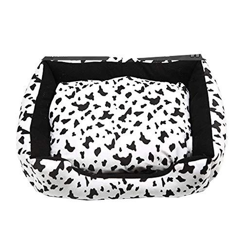 XGPT PET Cushions Für Hunde Katze Waschbares Fleece Lining Nesting Haus-Cow-Muster,S -