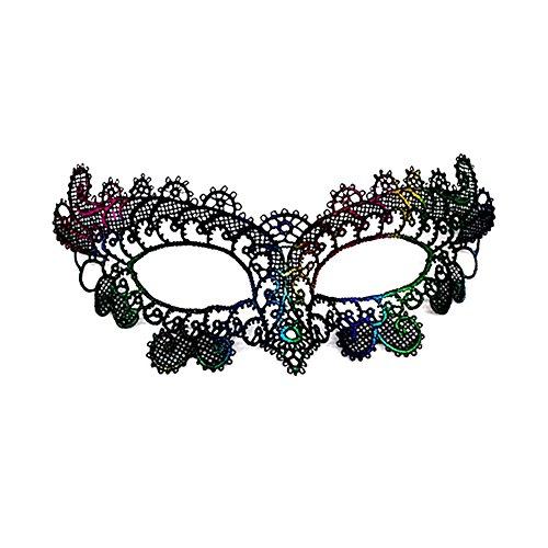 Lumanuby 1x Bunt Vogel Spitzen Maske Damen für Halloween von Pfau Phoenix oder Papagei Form Augenmaske Maskerade für Parteien Kostüm oder Karneval