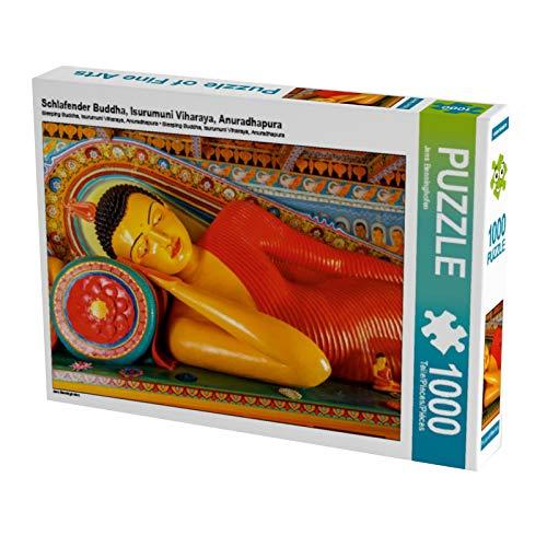 CALVENDO Puzzle Schlafender Buddha, Isurumuni Viharaya, Anuradhapura 1000 Teile Lege-Größe 64 x 48 cm Foto-Puzzle Bild von Jens Benninghofen