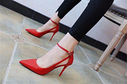 FLYRCX In stile Europeo elegante cava sexy tacco e tacco alto calzature per donna in primavera e in autunno D