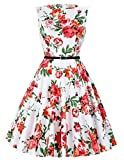 Classic 50s Style Picnic Birthday Party Swing Dress Floral 39# (XL)