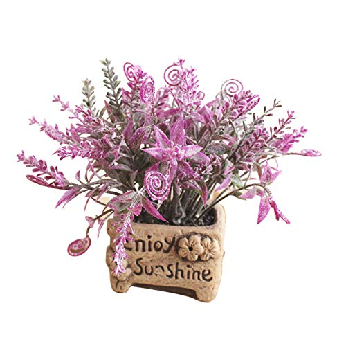 Yosemite 1 stück Land Stil künstliche Blume laub Bonsai DIY büro Garten Hochzeit Home Party Decor Rosenrot (Mittelstücke Für Geburtstagsfeiern Blume)