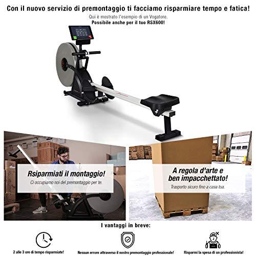 Sportstech RSX600 Vogatore Professionale con Sistema frenante Magnetico e ad Aria, Controllo Smartphone App, 16 programmi di Allenamento, Cintura Cardio da 39,90 € Inclusa, modalità Gara, Pieghevole