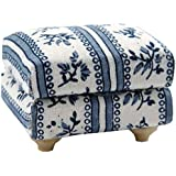 1/12th Scale Blue Dolls House Furniture Footstool Streets Ahead