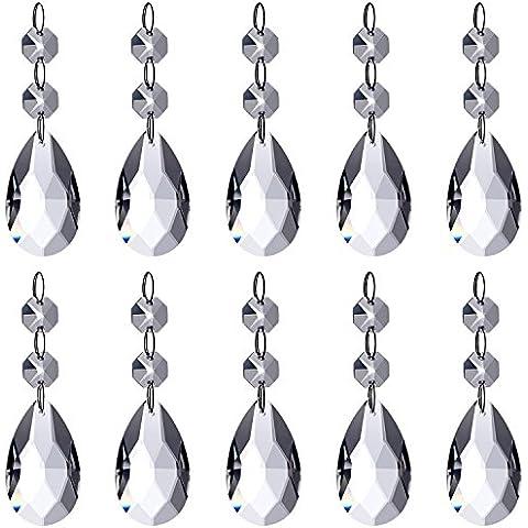 Neewer® Araña Pendientes De Cristal En Forma De Lágrima Granos De Cristal Pendiente Para La Decoración De Boda / Hogar / Oficina
