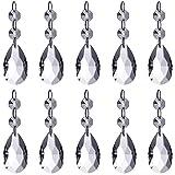 Neewer® Teardrop kristall Schmuckanhänger Anhänger Glass Glasperle für Hochzeit House Office Dekoration (10-Pack)