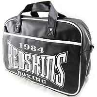 Bolso bowling 'Redskins' vintage negro.