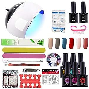 Coscelia Manicura Pedicura Set USB 24W Lámpara Secador Uña de Esmalte de Gel Nail Art Set