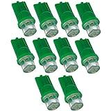 Aerzetix–380094616866910pcs T10W5W 12V LED luz verde