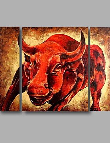 KK&MM pronta per essere appesa la pittura a olio dipinta a mano tesa sul muro di tela animali di...