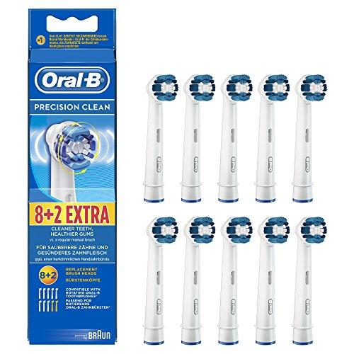Oral-B Precision Clean Brossettes De Rechange Pour Brosse À Dents Électrique 8+2