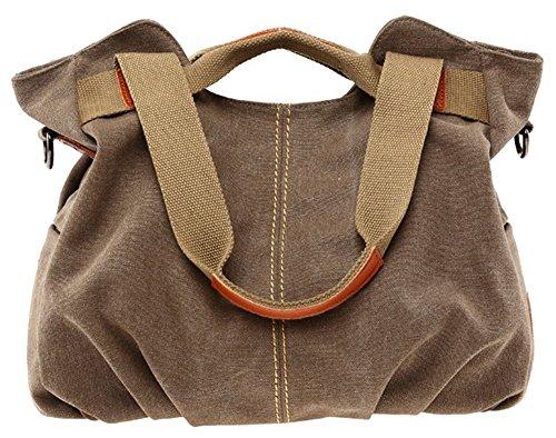 Segeltuchbeutel der Frauen - beiläufige Oberer Griff Handtaschen / Schulterbeutel für das Einkaufen und das Reisen-Kaffee Kaffee
