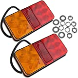 2x 10LED Rückleuchten Rücklicht Aoto Anhänger Indicator Light Leuchte Heckleuchte Warnleuchten