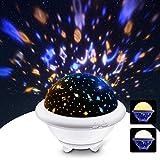 Sternenhimmel Projektor Lampe, SOLMORE 2 in 1 LED Nachtlicht für Kinder mit 9 LEDs 6 Modi und Dimmbar, Universum und Ozean Projektions Thema, für baby Geburtstag, Weihnachten, Halloween