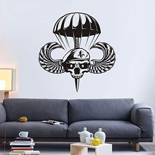 Fallschirmjäger-flügel (wangpdp Flügel Schädel Halloween Soldat Aufkleber Punk Tod Fallschirmjäger Aufkleber Teufel Name Auto Wanddekorationen Wanddekor Wandschild 58 * 60 cm)