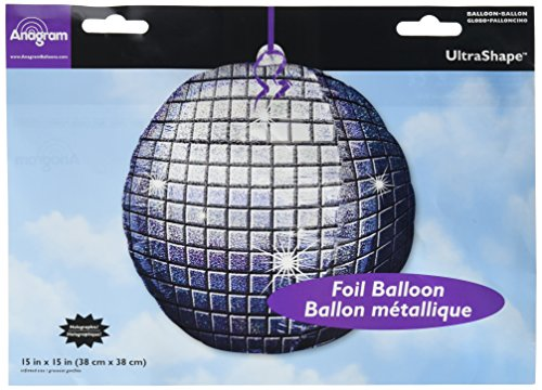 Anagram International 1803101 Disco Ball Shape Foil Pack, by 15