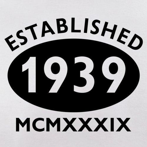 Gegründet 1939 Römische Ziffern - 78 Geburtstag - Herren T-Shirt - 13 Farben Weiß