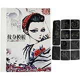 Vococal - 108 Piezas Plantillas para Tatuajes,tattoo stencil Template Set con Estuche de Almacenamiento Semi-permanente para DIY Glitter Tattoo,Estilo Random