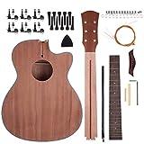 Shsyue® DIY Akustikgitarre Set Holz Gitarre Bausatz Halbfabrikat 40 Zoll