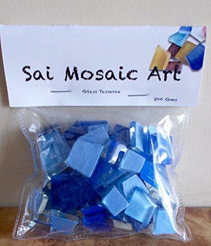 Sai Mosaic Art Pre-Cut Glass Mosaics Blue 200 GMS