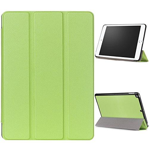 """WindTeco Hülle für Neu iPad 9.7 Zoll 2017 - Ultra Dünn Slim-Fit Smart Hülle Schutzhülle Tasche mit Einschlaf / Aufwach Funktion für New Apple iPad 9.7"""" IOS 10 Retina Display Tablet, Grün"""