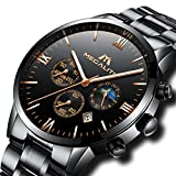 Best Designer Watches - Mens Chronograph Stainless Steel Watches Men Waterproof Date Review