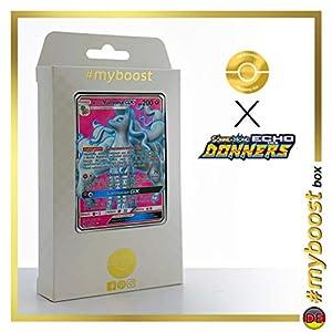 Alola-Vulnona-GX (Ninetales de Alola-GX) 205/214 Full Art - #myboost X Sonne & Mond 8 Echo Des Donners - Box de 10 Cartas Pokémon Alemán