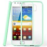 moex Samsung Galaxy S2 | Hülle Slim Transparent Mint-Grün Impact Back-Cover Dünn Schutzhülle Silikon Handy-Hülle für Samsung Galaxy S2 / S2 Plus SII Case TPU Tasche Matt