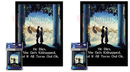 Preisvergleich Produktbild 100 PRINCESS BRIDE Deck Protectors Max Protect GLOSS Sleeves 2-Packs - Standard Magic the Gathering Size He dies,  she gets kidnapped,  but it all turns out okay. by Max Protect