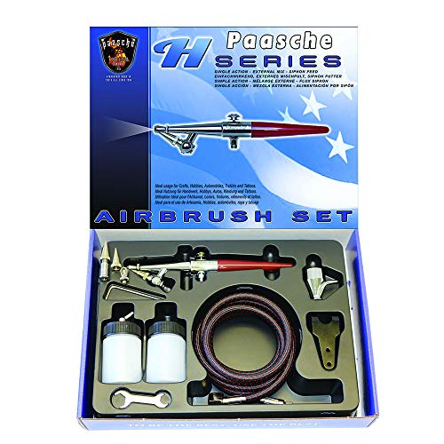Paasche Airbrush Single Action Siphon Feed Airbrush-Set, Mehrfarbig -
