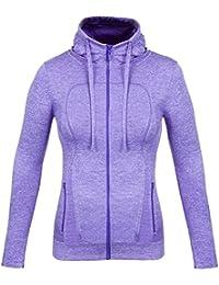 Fitibest Femmes Veste en Plein air Zip Vêtements de Sport Chemise de Sport Yoga Slim Sport Vestes de Sport Avec Trous de Pouce