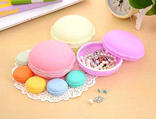 Hengsong Petite Boîte Ecrin De Rangement Forme Macarons Pour Bijoux Collier Multicolor (Large, Pourpre)