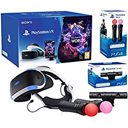 PlayStation VR2 (CUH-ZVR2) Starter Plus Pack Camera V2 + VR Worlds + Paire Move Controllers