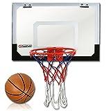 TW24 Basketballkorb Mini Fastfold - Indoor Zimmer Basketballkorb - Mini-Basketball mit Luftpumpe