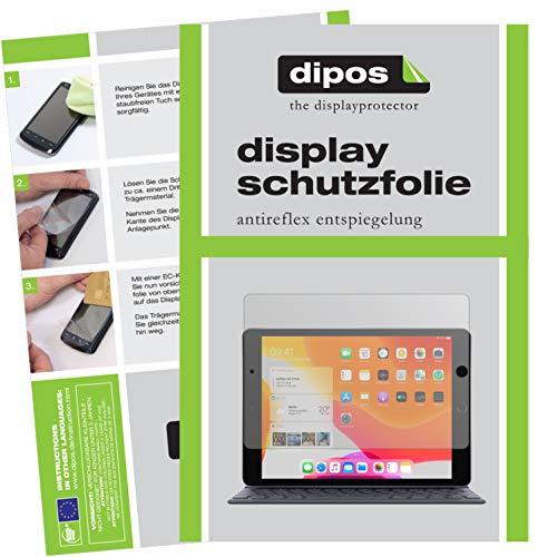 dipos I 2X Schutzfolie matt kompatibel mit Apple iPad 10.2 Zoll (2019) Folie Displayschutzfolie