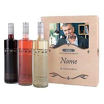private Wine BREE Wein-Set zum Geburtstag mit Premium Geschenkbox mit Foto und Wunschtext