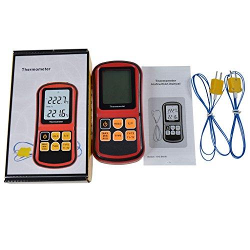 H HILABEE Termómetro Digital Tipo K Con Sensor De Termopar -200~1372 ° C / -328~2501 ° F