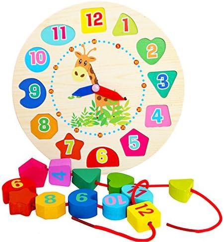 TrifyCore TrifyCore TrifyCore Montre d'apprentissage, Montre de Casse-têtes, Jeu éducatif de Poteau en Bois Jeu d'enfant Jeu d'apprentissage pour Les  s et Les bébés   Moderne  302ccf