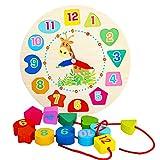TrifyCore Orologio di apprendimento, Orologio da Puzzle, Set educativo di madero set di Bambini set di apprendimento per bambini E Neonati