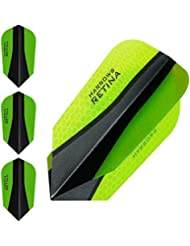 Harrows retina-x Dart Flights – 5 jeux (15) – Extra fort 100 microns – Fin – Vert