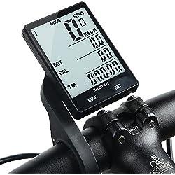 Inbike Bike - Velocímetro inalámbrico multifunción para bicicleta, impermeable, con cronómetro, retroiluminación, 2,8 pulgadas, color Standard Wireless