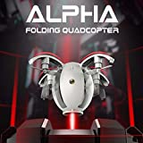 Y56 Mini plegable Drone, Kai Deng K130 Alpha 2.4 G 4 CH 6-Axis Gyro RC Quadcopter transformable huevo Drone RTF, 64 x 50 x 50 mm, blanco, S