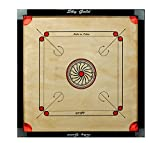 #9: SKY Full size(Large) Cut Pocket Carrom Board with COINS, STRIKER & CARROM POWDER