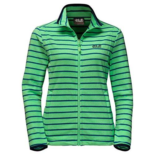 Jack Wolfskin Women's Kiruna Striped Jacket Spring Green Stripes