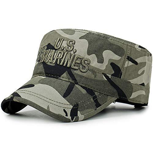 SKAMAO Baseball Kappe Camouflage Flache Kappe Marines Baseball Caps Männer Taktische Navy Seal Camo Cap Brief Flat Top Hats Tarnen - Navy Cap Seals Camo