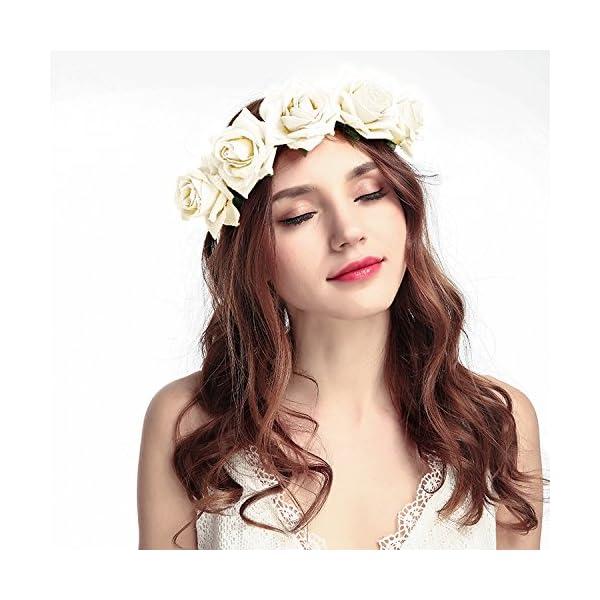 100% authentic top design wide range ZEWOO Bandeau cheveux de mariage, Fleur Couronne Bandeau Floral Guirlande  Couronne Accessoires à Cheveux pour Mariage Festival Partie Voyage