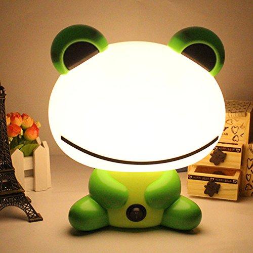 WEIAN Yam bean Froschkarikatur super nette kleine Lampe Nachtlicht kreative Energie sparende Kinderzimmer Schlafzimmer Nachttischlampen , 11-frog