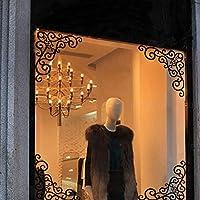 4 unds Pegatinas cenefa esquineros para ventana escaparate comercio armarios puertas de OPEN BUY