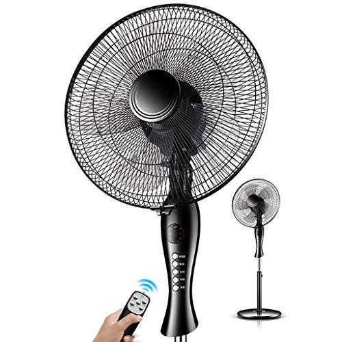 Stand fan Fußbodenlüfter mit Fernbedienung/mechanischer geräuschloser Kopflüfter / 35 ° nach Oben und unten Verstellbarer, schraubenloser Umluftventilator für die Maschine -