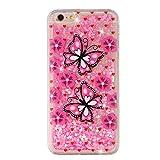 Everainy Coque Compatible pour iPhone 6S Plus Silicone 3D Paillettes Glitter...